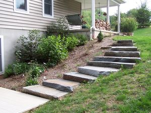 Boulder Stairs and Furniture